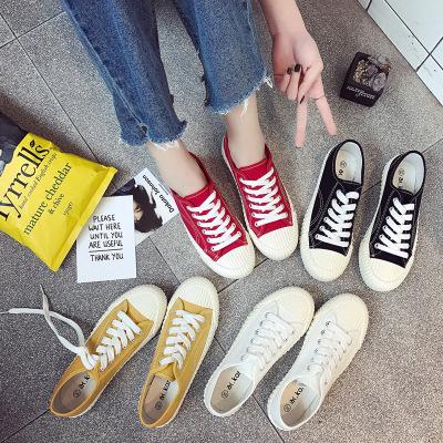 giày bệt nữ Giày bánh quy mới Giày vải bố nữ sinh viên Hàn Quốc phiên bản Hàn Quốc của giày đế bằng