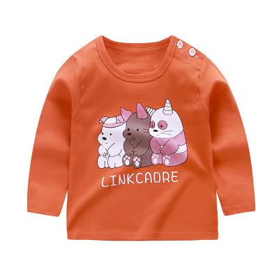 Áo thun trẻ em Quần áo trẻ em 2019 Trẻ em áo thun dài tay cotton đơn áo sơ mi bé gái mùa thu bán buô