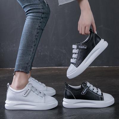 Giày Sneaker / Giày trượt ván 2019 mới Giày da Velcro Giày trắng nhỏ nữ màu đỏ hoang dã giản dị chụp