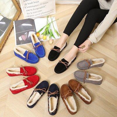 giày bánh mì / giày Platform Giày Peas nữ cộng với nhung mùa đông 2019 Giày đế bệt đế bằng đa năng m