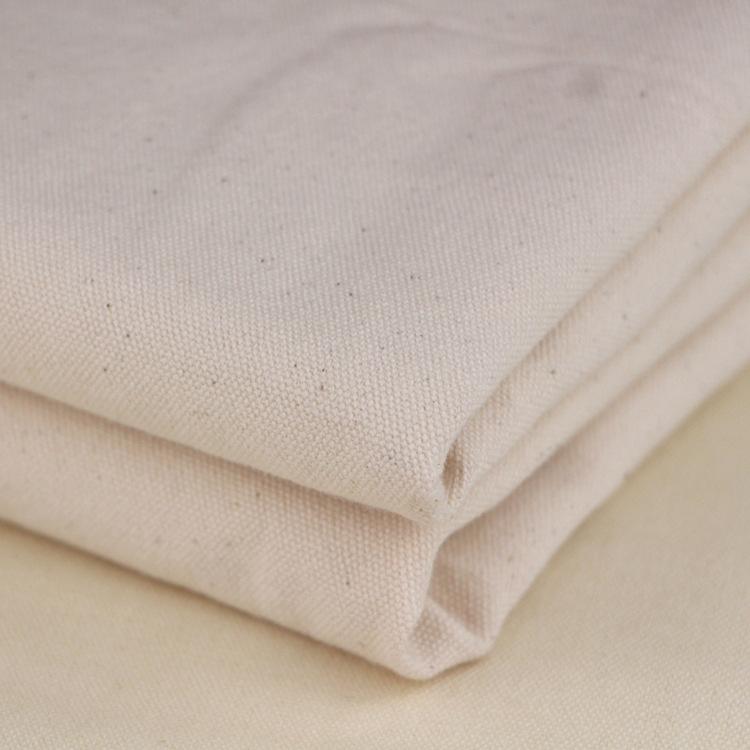 HUASHIJIA Vải Cotton mộc Vải cotton màu xám / vải trắng vải 12 bông vải DIY túi xách quần áo túi vải
