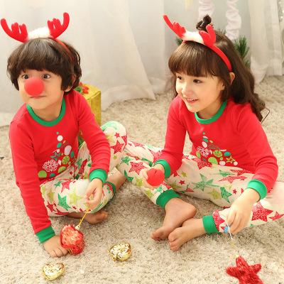 Đồ ngủ trẻ em Đồ lót trẻ em cotton bé gái cotton áo len mùa đông và đồ ngủ mùa thu quần áo mùa thu q