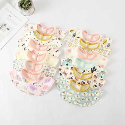 Khăn yếm Mới bé yếm tròn 360 độ cotton thấm nước khăn thấm nước trẻ em bib đôi bông túi bé