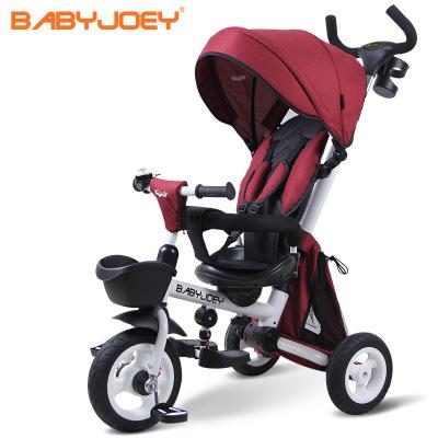 Xe đẩy trẻ em New British Babyjoey Xe đạp ba bánh cho trẻ em gấp 1-3 tuổi Xe đẩy em bé đẩy xe đẩy em