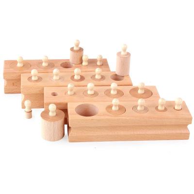 Đồ giảng dạy trẻ sơ sinh Montessori Montessori Dạy học sớm Trợ giúp ổ cắm xi lanh 1-3 tuổi Trẻ sơ si