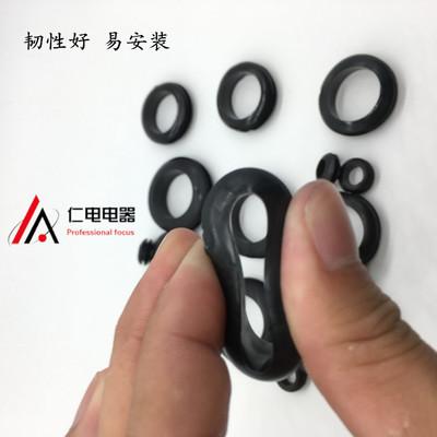 Hộp phân phối điện Cuộn dây bảo vệ hai mặt màu đen Hộp phân phối tủ niêm phong dây cao su vòng đệm p