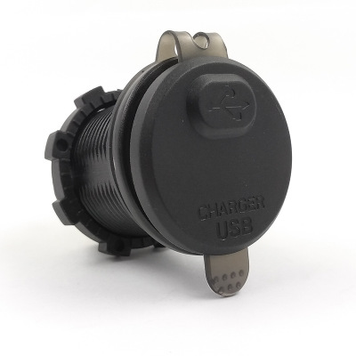 Đầu cắm sạc Xe hơi và xe máy sửa đổi bộ sạc xe hơi QC3.0 không thấm nước với điện áp và màn hình kép