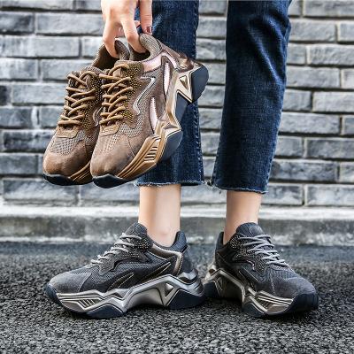 giày bánh mì / giày Platform Giày cũ siêu tốt 2019 mùa thu mới Giày đế dày của phụ nữ tăng giày thể