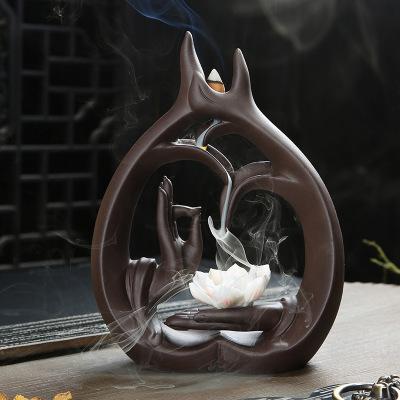 Tượng Xông Trầm hương sáng tạo hình bàn tay .