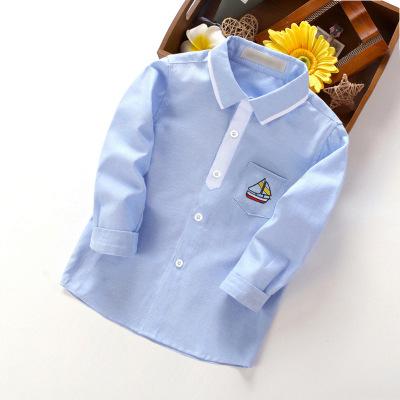 Điếc trẻ Áo Sơ-mi trẻ em Áo sơ mi nam tay dài mùa thu phong cách mới cho trẻ em nhà máy sơ mi hoang