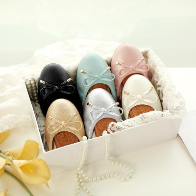 giày bệt nữ 2019 giày trứng mới của phụ nữ giày mùa xuân và mùa thu giày đế bằng phẳng đế giày đế xu