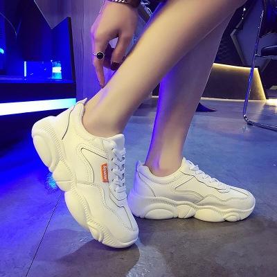 Giày trắng nữ Giày thể thao Hàn Quốc mới 2019 in lưới đỏ siêu lửa Giày nữ cũ bình thường sinh viên h