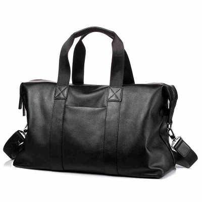 Túi xách du lịch Túi da du lịch lớp đầu tiên nam kinh doanh vali công suất lớn mặt cắt da messenger
