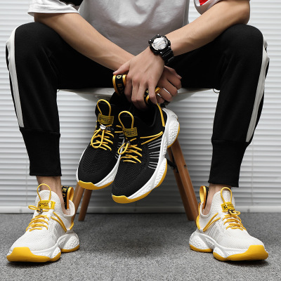 Giày lưới Giày nam mùa thu 2019 Giày thể thao mới lưới thoáng khí giày chạy bộ xu hướng đàn hồi khóa