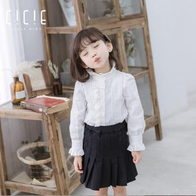 Áo Sơ-mi trẻ em Mùa thu mới 2019 quần áo trẻ em cotton một thế hệ bé gái áo sơ mi dài tay búp bê trẻ
