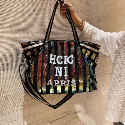Túi xách du lịch Phiên bản tiếng Hàn của túi xách sequin dành cho nữ túi du lịch đường dài dung lượn
