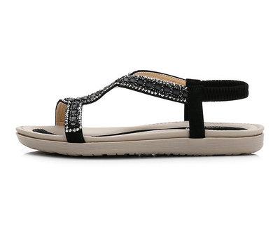 Thị trường giày nữ Dép nữ 2019 dép mới đan kim cương tập trung vào giày nữ ngoại thương cỡ lớn hỗ tr
