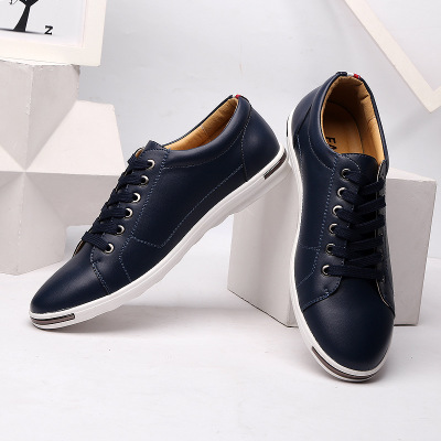 Giày lười / giày mọi đế cao Giày trắng nhỏ nam size lớn phiên bản mới của Hàn Quốc theo xu hướng hoa