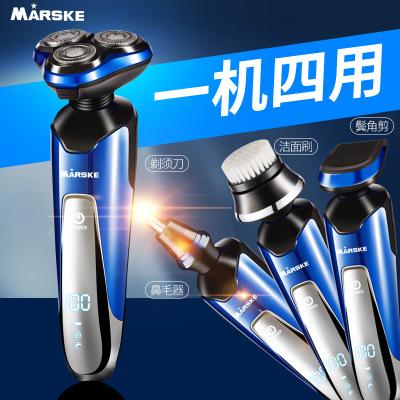 Dao cạo râu  Dao cạo râu điện đa năng mũi tông đơ nam có thể sạc lại bàn chải rửa 3D thông minh