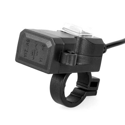 Đầu cắm sạc Xe máy sửa đổi kép USB sạc điện thoại di động xe điện tay ga với bộ sạc chống nước