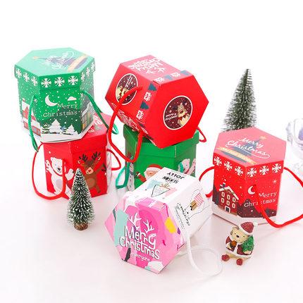 ou Li hộp giấy âm dương Giáng sinh thế giới hình lục giác che hộp táo sáng tạo gửi chàng trai và cô