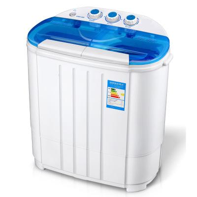 Máy giặt Nhà máy trực tiếp máy giặt thùng đôi nhỏ bán tự động xi lanh đôi hộ gia đình rửa giải một m
