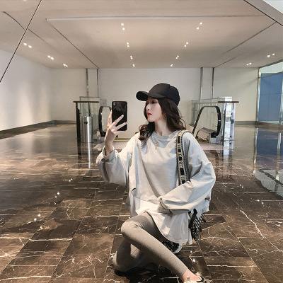 Đồ Suits Thời trang giả áo len hai dây phù hợp với nữ dài phần đầu thu 2019 mới quần legging thon gọ
