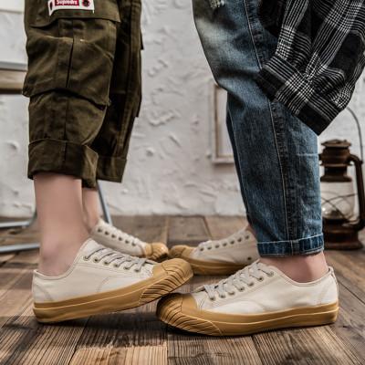 giày bệt nữ Giày vải mùa thu 2019 giày đế thấp giày nữ handmade lưu hóa đôi giày lưới màu đỏ đôi sin