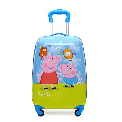 VaLi hành lý Trẻ em xe đẩy hành lý 18 inch tùy chỉnh dễ thương phim hoạt hình bốn bánh kéo hộp nam v