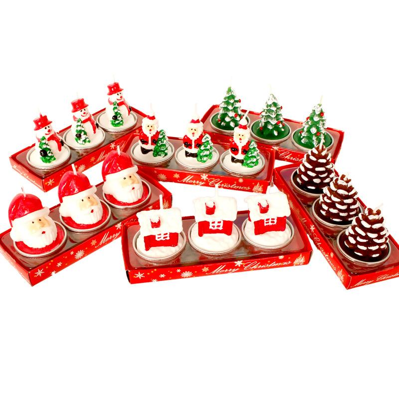 DAXIAO NLSX Nến Nến Giáng sinh nóng Người tuyết Cây Giáng sinh Giải trí Nơi ăn tối lãng mạn Nến Gián