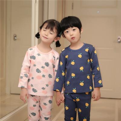 Thị trường trang phục trẻ em Bộ đồ lót nhung trẻ em cộng với bộ đồ lót nhung mà bộ đồ lót tất cả đều