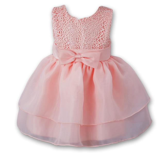 TIANSHIBA Đầm Túi tóc giúp bé váy hồng phù hợp với bé trăng rằm trăm ngày váy công chúa đầm ren váy