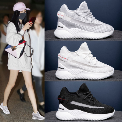 Giày trắng nữ Giày cũ nữ mùa hè giày thủy triều màu đỏ 2019 mới hoang dã thoáng khí mùa xuân mùa hè