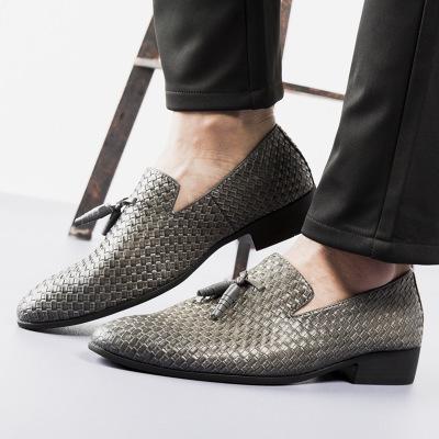 Giày mọi đế thấp Giày dệt kim cỡ lớn cho nam giới Giày dép thời trang trẻ em Hàn Quốc xuyên qua giày