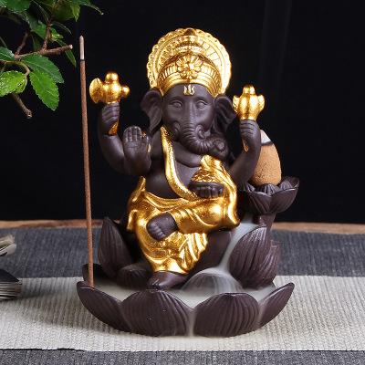 Tượng Xông Trầm hương Thần voi Ganesha Thái Lan Ấn Độ