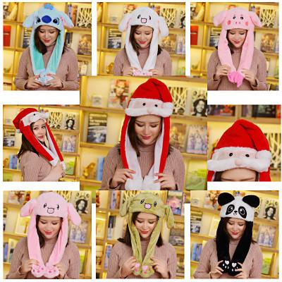 Đồ chơi hoạt hình Mũ rung cùng mũ tai thỏ màu đỏ với đôi tai nhúm dễ thương sẽ di chuyển chiếc mũ th