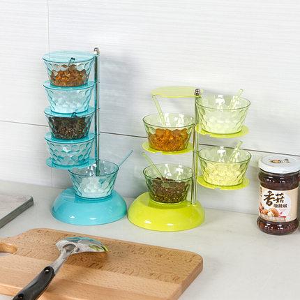 Cookever  Hũ nhựa Hộp đựng gia vị theo chiều dọc Hộp đựng gia vị nhiều lớp phủ