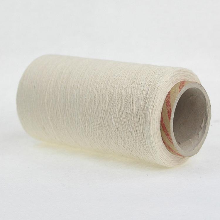 Sợi bông Nhà máy trực tiếp 8 ~ 19 sợi bông tái chế trắng, sợi polyester / bông tái chế, sợi lau, sợi