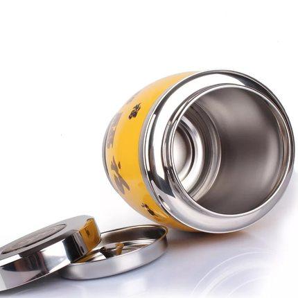 QUAJIASI  Hũ kim loại  304 nồi trà dày bình trà dung tích kim loại lon trà niêm phong Trung Quốc lưu