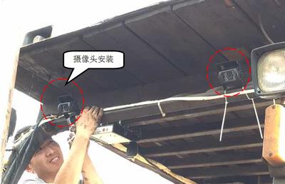 Đầu ghi hình camera  Xe nâng đặc biệt ghi 4 chiều H.264 xe đơn / đôi ghi thẻ SD Ghi chu kỳ tự động