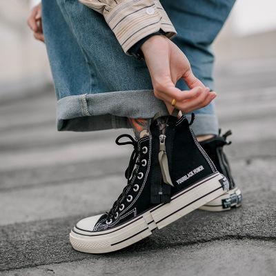 giày vải Giày vải nam cao giúp phiên bản Hàn Quốc của xu hướng giày xuân nam Giày đế dày đế xuồng na