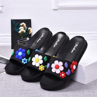 dép mang trong nhà Giày dép nữ thời trang giản dị và dép mùa hè bằng nhựa mới chống trơn hoa đơn giả