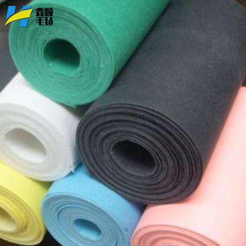 XINSHUN Vải không dệt [Vải không dệt kim] màu vải sợi không dệt kim vải dệt kim Tùy chỉnh dày sợi hó