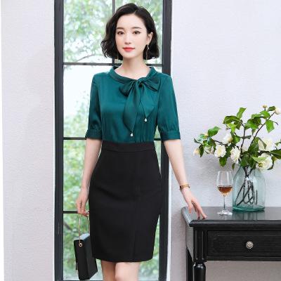 Đồ Suits Đầm dự tiệc hè 2019 mới tự tu eo eo thon gọn mặc chuyên nghiệp khí chất nữ thần Ming Ming v