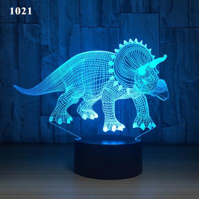 Đèn điện, đèn sạc Amazon mô hình vụ nổ nhà khủng long ánh sáng ban đêm đầy màu sắc led đèn bàn usb g