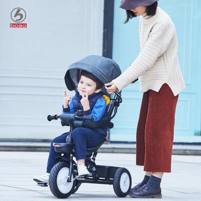 Xe đẩy trẻ em Xe đạp trẻ em Bao Shi xe đạp 1-3 tuổi Xe đẩy trẻ em 2-6 em bé 3 bánh xe lớn