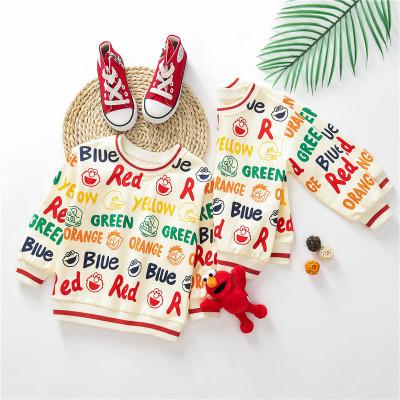 Thị trường trang phục trẻ em Áo len bé gái Tiếng Anh zmj màu tương phản Áo len trẻ em 2019 mùa thu v