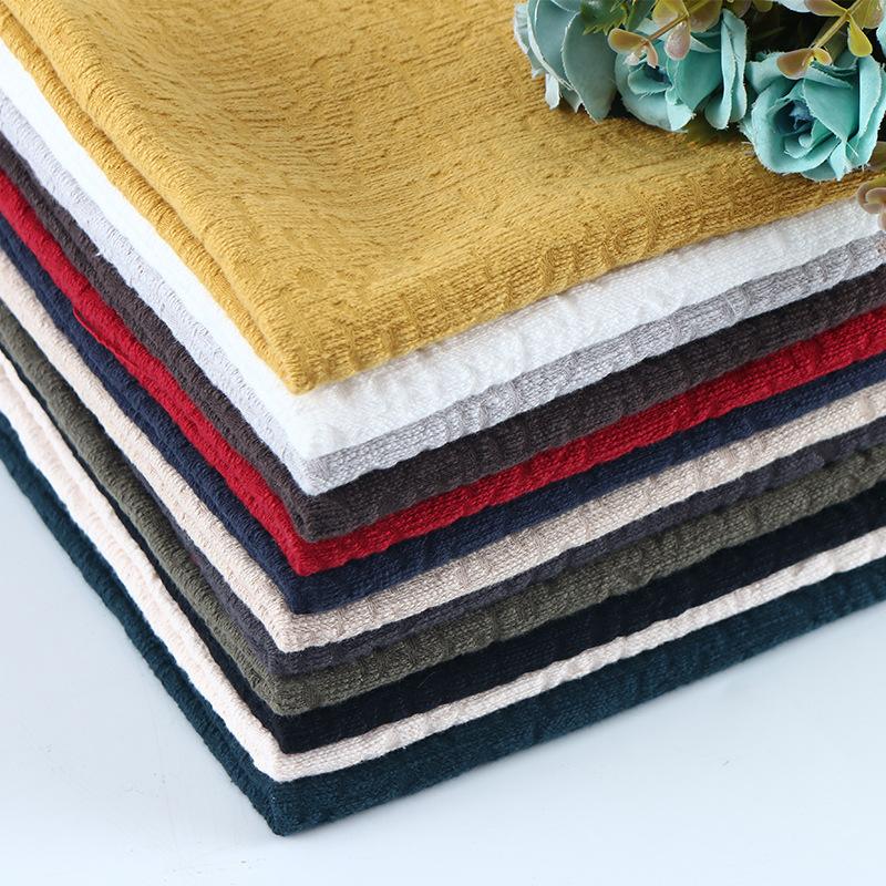 WEIXI Vải Cotton pha Mùa thu và mùa đông tiền và vải pha trộn vải lanh Vải lanh đôi dày vải lanh áo