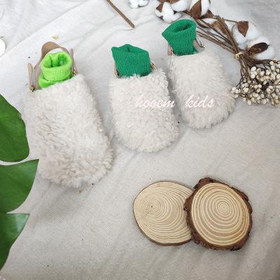 dép trẻ em (An Jiu) 2019 Mùa thu phiên bản Hàn Quốc của dép lông cho trẻ em cha mẹ