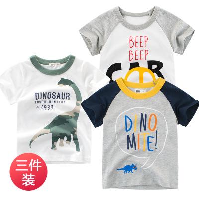 Áo thun trẻ em 27kids thương hiệu quần áo trẻ em mới 2019 hè Hàn Quốc trẻ em áo thun ngắn tay nam sả